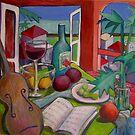 Violin Still life by nancy salamouny