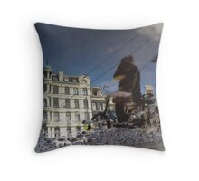 Reflections of Amsterdam - Leaving me behind Throw Pillow