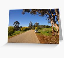 A quiet back road Greeting Card