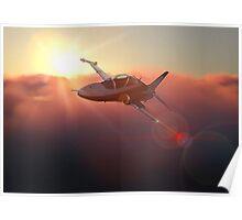 BAE Hawk at dusk Poster