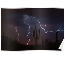 Lightning Reaching Out Poster