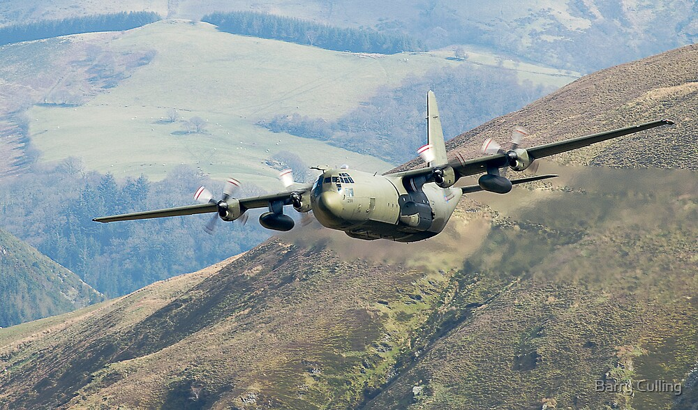 Lowflying Hercules aircraft by Barry Culling