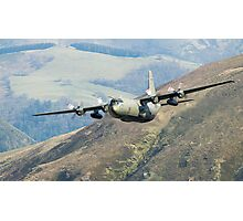 Lowflying Hercules aircraft Photographic Print