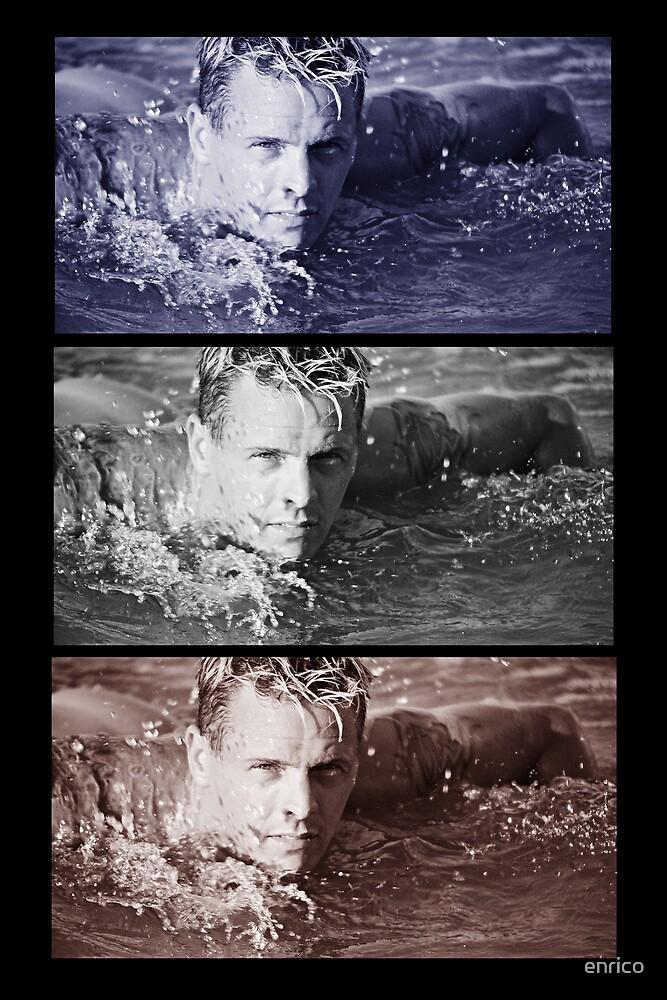 swimming man by enrico
