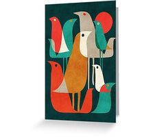 Flock of birds Greeting Card