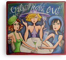 Girls Night Out Metal Print