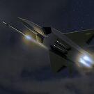 F22 Raptor, fox 3 by MarkSeb