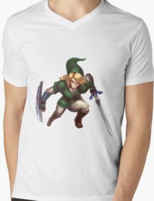 Link Mens V-Neck T-Shirt