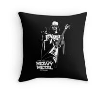 Funny Darth Vader Heavy Metal Throw Pillow