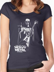 Funny Darth Vader Heavy Metal Women's Fitted Scoop T-Shirt