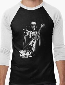Funny Darth Vader Heavy Metal Men's Baseball ¾ T-Shirt