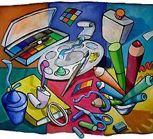 Art Table 2 by nancy salamouny