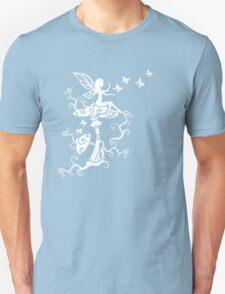 Fairy, Magic Mushrooms, Butterflies, Fantasy Unisex T-Shirt