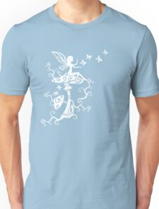 Fairy, Magic Mushrooms, Butterflies, Fantasy Unisex T-Shirt