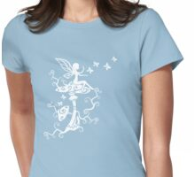 Fairy, Magic Mushrooms, Butterflies, Fantasy Womens Fitted T-Shirt