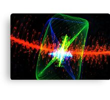 Laser Lights Canvas Print