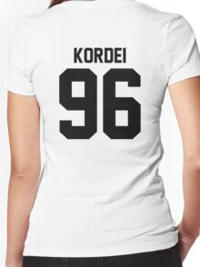 #FIFTHHARMONY, Normani Kordei Women's Fitted V-Neck T-Shirt