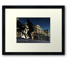 Reflections of Amsterdam - Puddle Racer Framed Print