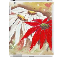 The Poinsettia and the Daisies iPad Case/Skin