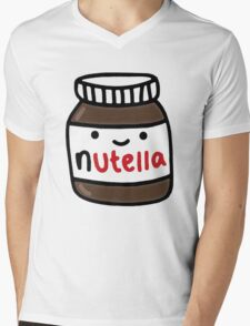 Nutella Cute Mens V-Neck T-Shirt