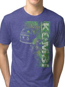 Volkswagen Kombi Tee shirt - Grunge Green Tri-blend T-Shirt