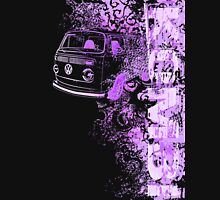 Volkswagen Kombi Tee shirt - Grunge Purple Womens Fitted T-Shirt