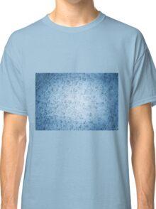 Melt snow blue texture Classic T-Shirt