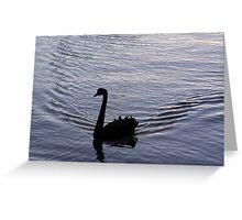 Twilight Swimmer Greeting Card