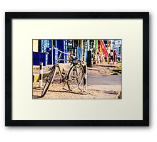 Bikes with a story Framed Print