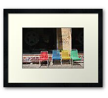 Coloured Chairs Framed Print