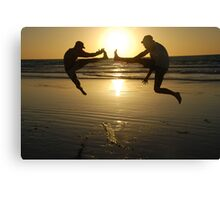 sunset kicks in in Broome Canvas Print