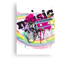 MUSIC is everything [ poster ] Canvas Print