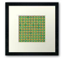 Bits pattern Framed Print