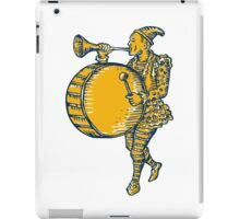 Clown With Trumpet and Drum Marching Etching iPad Case/Skin