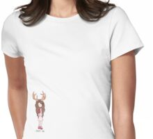 Deer Me.  Womens Fitted T-Shirt