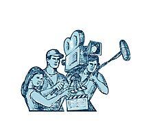 Film Crew Clapperboard Cameraman Soundman Drawing Photographic Print