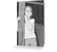 Nellie-Washington Winch. Greeting Card