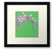 Cute watercolor flowers Framed Print