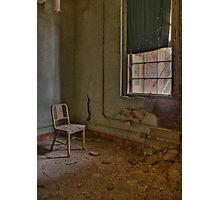 Rusted Chair Photographic Print