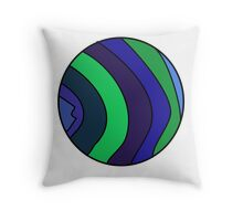 Cool Coloured Circle Throw Pillow
