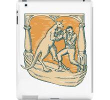 Kangaroo Boxing Man Etching iPad Case/Skin