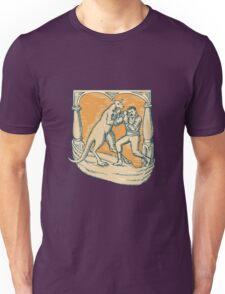 Kangaroo Boxing Man Etching Unisex T-Shirt