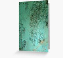 Cracked paint and mold Greeting Card
