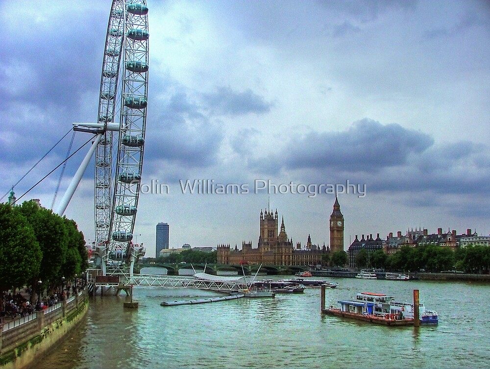 London Icons - The Eye, and Westminster by Colin  Williams Photography