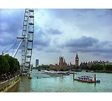London Icons - The Eye, and Westminster Photographic Print
