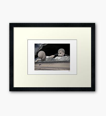 'Dolls shouldn't drive...' Catavina, Baja Peninsula, Mexico. Framed Print