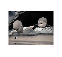 'Dolls shouldn't drive...' Catavina, Baja Peninsula, Mexico. Photographic Print
