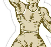Strongman Lifting Barbell Kettlebell Etching Sticker