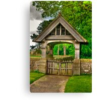 Lych-Gate, Holy Trinity, Coverham Canvas Print
