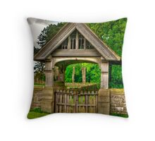 Lych-Gate, Holy Trinity, Coverham Throw Pillow